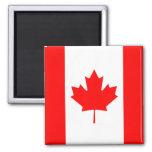 The Canadian Flag - Canada Souvenir 2 Inch Square Magnet