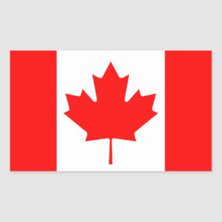The Canadian Flag, Canada Rectangle Stickers