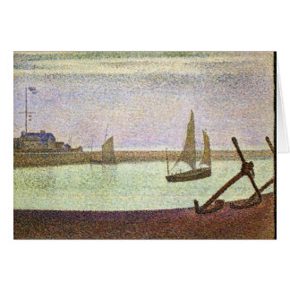 The canal at Gravelines by Georges Seurat Card