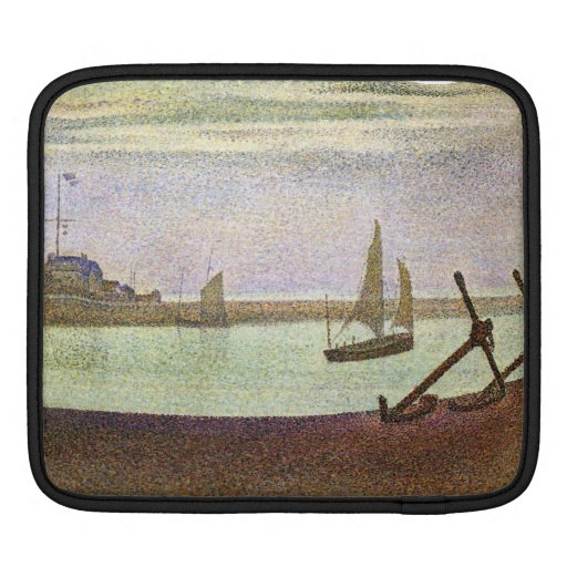 The canal at Gravelines by Georges Seurat iPad Sleeve