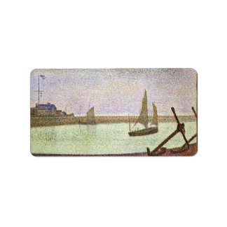 The canal at Gravelines by Georges Seurat Label