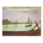 The canal at Gravelines by Georges Seurat Post Card