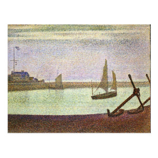 The canal at Gravelines by Georges Seurat Postcard