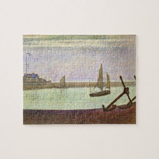 The canal at Gravelines by Georges Seurat Puzzles