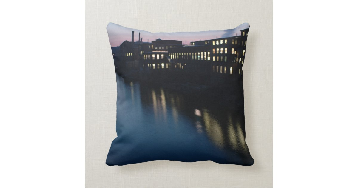 The Canal III Throw Pillow