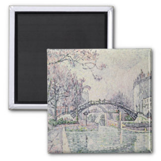 The Canal Saint-Martin, 1933 2 Inch Square Magnet