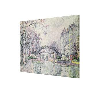 The Canal Saint-Martin, 1933 Canvas Print