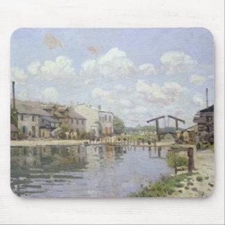 The Canal Saint-Martin, Paris, 1872 Mouse Pad