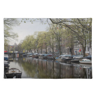 The Canals of Amsterdam Cloth Placemat