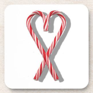 The Candy Canes Heart Collection Coaster