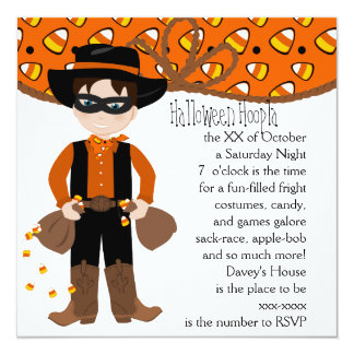 The Candy COrn Bandit Invitation