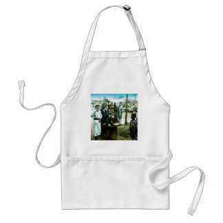 The Candy Man of Old Japan Vintage Japanese Adult Apron