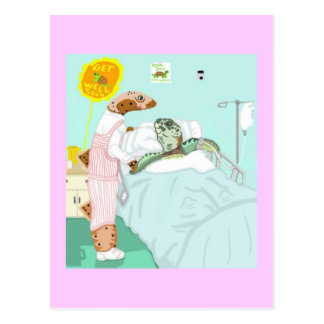 The Candy Striper And Her Patient Postcard