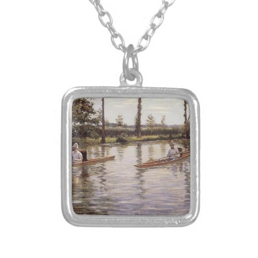 The Canoe  by Gustave Caillebotte Necklace