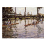 The Canoe  by Gustave Caillebotte Postcard