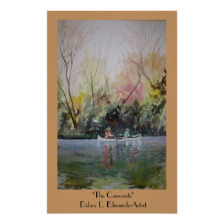 The Canoeists Poster