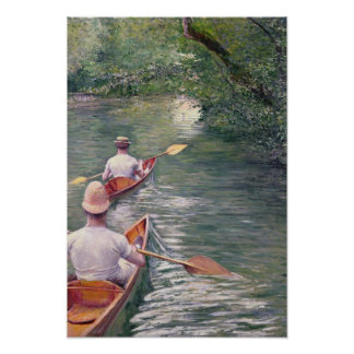 The Canoes, 1878 Poster