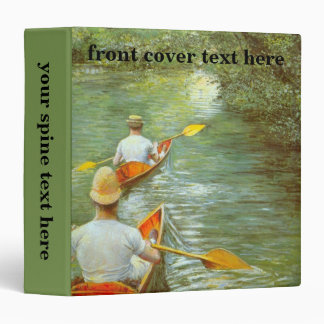 The Canoes by Caillebotte, Vintage Impressionism 3 Ring Binder