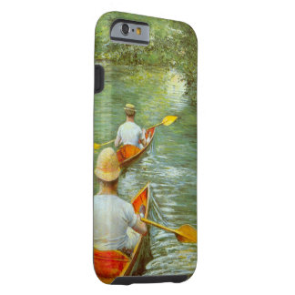 The Canoes by Caillebotte, Vintage Impressionism Tough iPhone 6 Case