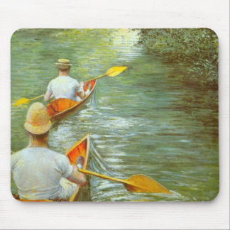 The Canoes, Perissoires by Gustave Caillebotte Mouse Pad