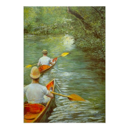 The Canoes, Perissoires by Gustave Caillebotte Poster