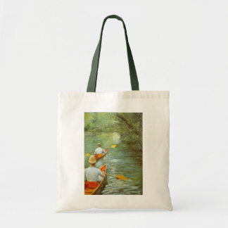 The Canoes, Perissoires by Gustave Caillebotte Tote Bag