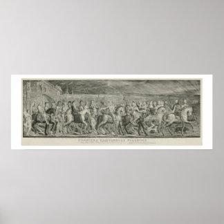 The Canterbury Pilgrims by William Blake Poster