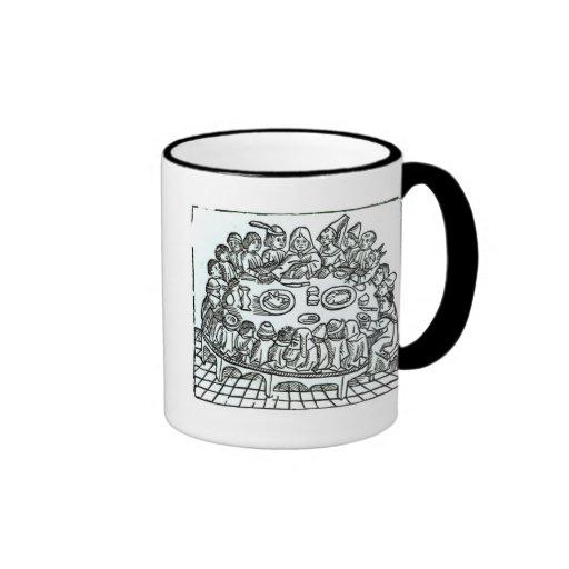 The Canterbury Pilgrims Ringer Coffee Mug
