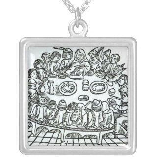 The Canterbury Pilgrims Silver Plated Necklace