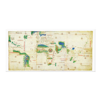 The Cantino Planisphere World Map (1502) Canvas Print