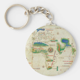 The Cantino Planisphere World Map (1502) Keychain
