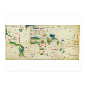 The Cantino Planisphere World Map (1502) Postcard