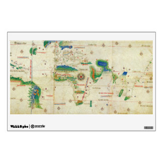 The Cantino Planisphere World Map (1502) Wall Decal