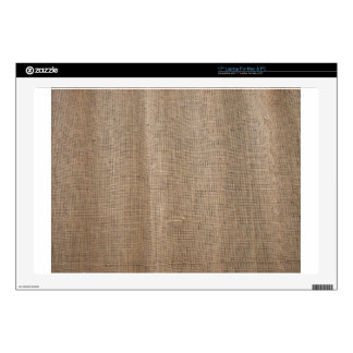 The canvas of burlap texture skin for laptop