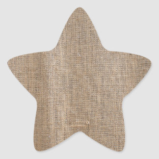 The canvas of burlap texture star sticker