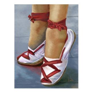 The canvas shoes postcard