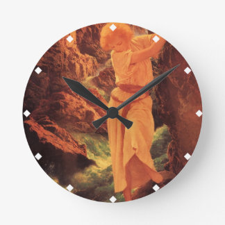 The Canyon - Maxfield Parrish Round Clock