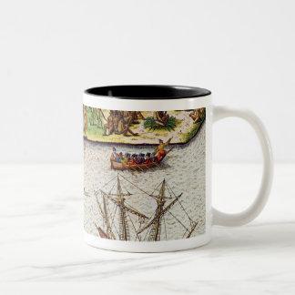 The Cape of Florida  and the Dolphin River Two-Tone Coffee Mug