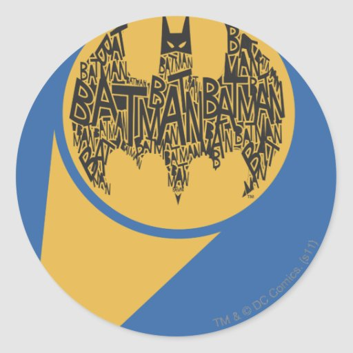 The Caped Crusader Classic Round Sticker
