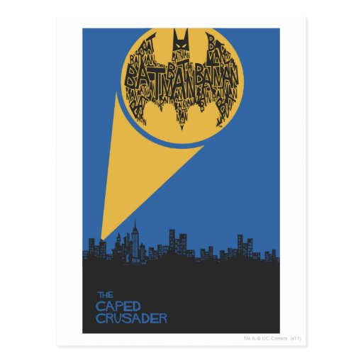 The Caped Crusader Postcards