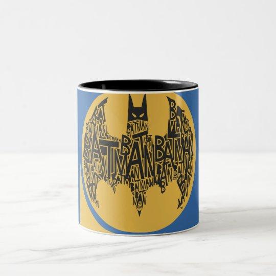 The Caped Crusader Two-Tone Coffee Mug