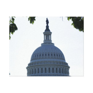 The Capital Stretched Canvas Print