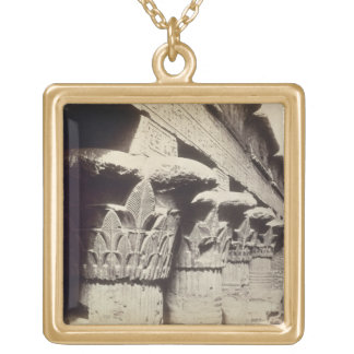 The Capitals of the Portico, Temple of Khnum, Esna Gold Plated Necklace