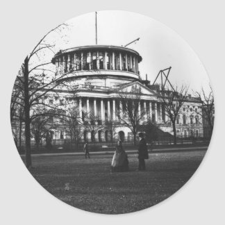 The Capitol Building in Washington D.C. Classic Round Sticker