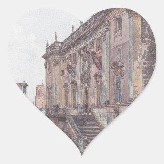 The Capitol in Rome by Rudolf von Alt Heart Sticker