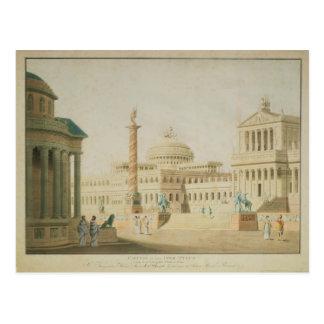 The Capitol, set design for 'Titus' Postcard