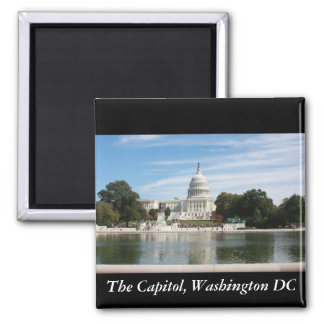 The Capitol, Washington DC 2 Inch Square Magnet
