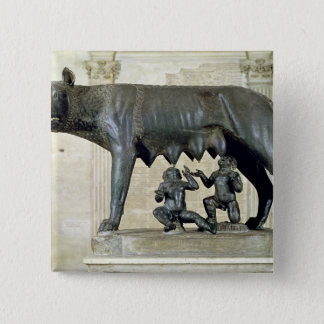 The Capitoline She-Wolf Pinback Button