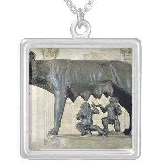 The Capitoline She-Wolf Silver Plated Necklace