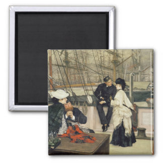 The Captain and the Mate, 1873 2 Inch Square Magnet